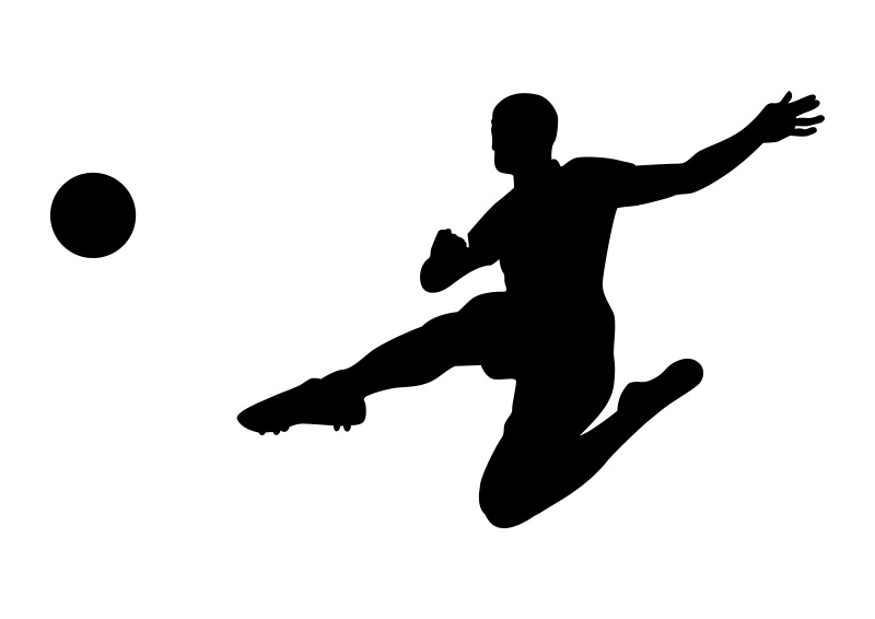soccer player silhouette jumping soccer player silhouette soccer player silhouette