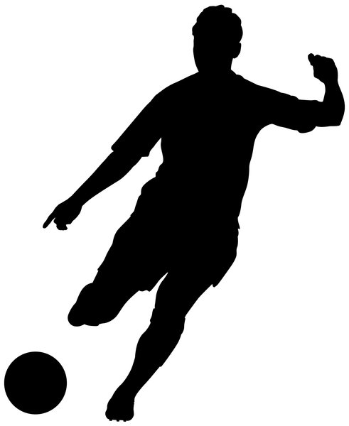 soccer player silhouette silhouette football player free vector graphic on pixabay player soccer silhouette