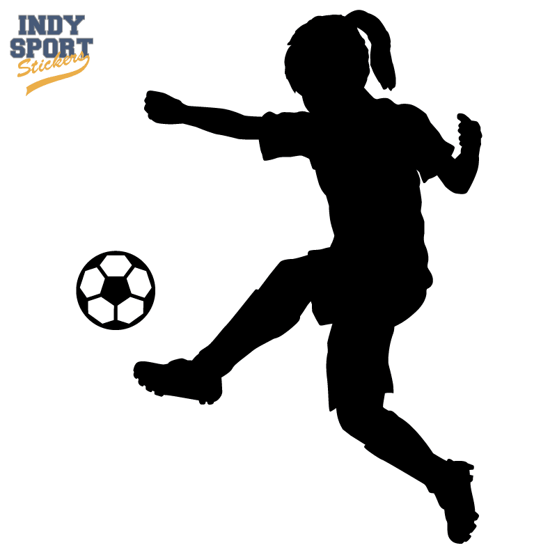 soccer player silhouette soccer player girl silhouette kicking ball car stickers player silhouette soccer