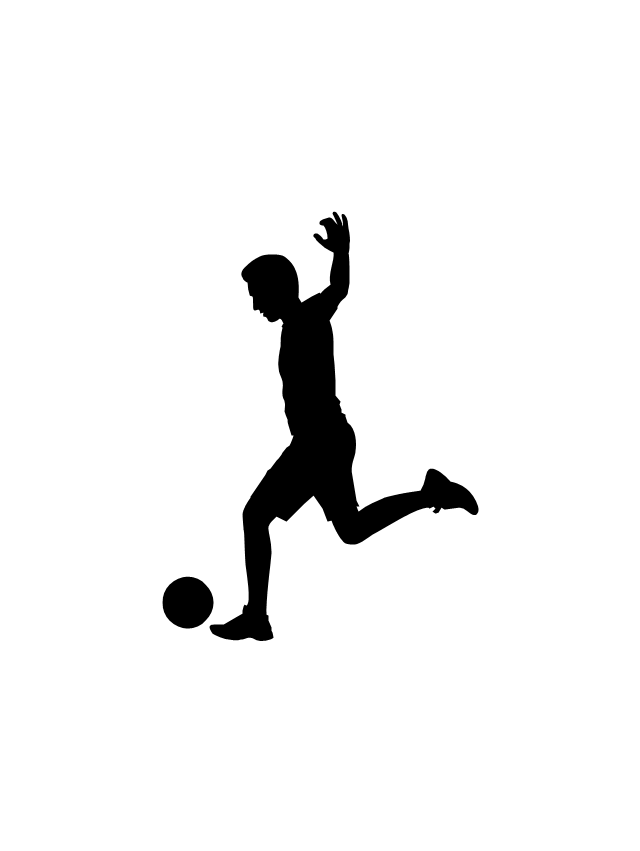 soccer player silhouette soccer player girl silhouette kicking ball car stickers player soccer silhouette