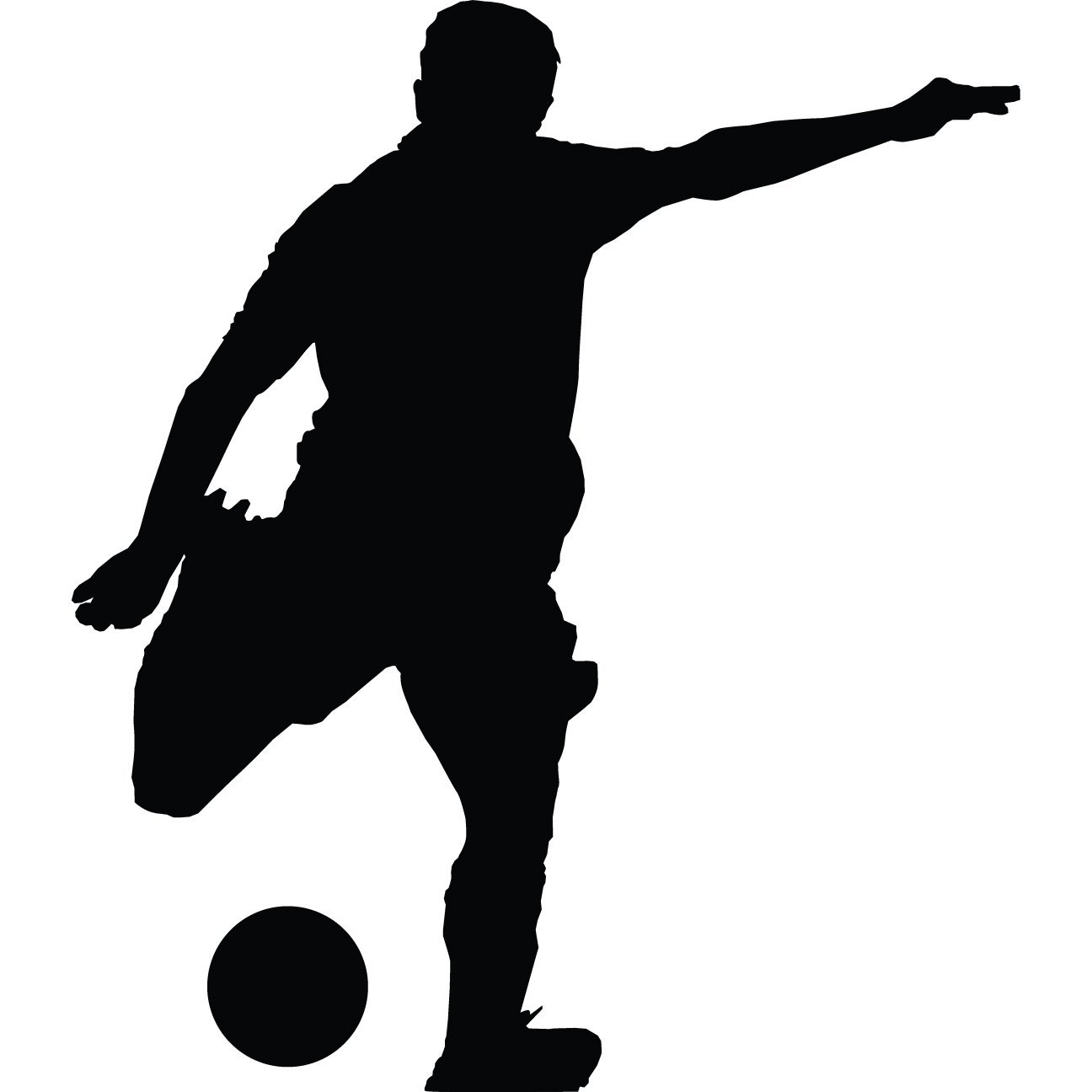 soccer player silhouette soccer player silhouette clipartsco soccer silhouette player