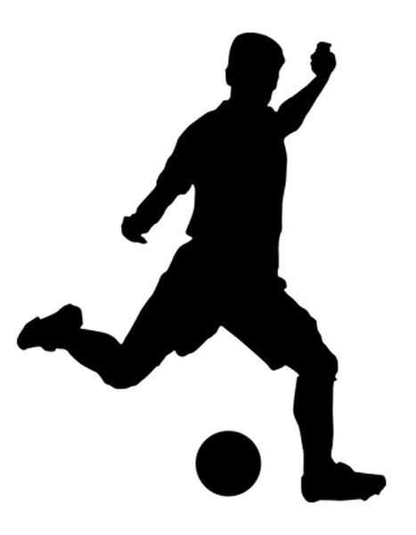 soccer player silhouette sport silhouette soccer player kick car tablet vinyl soccer silhouette player
