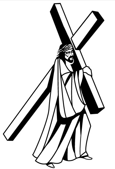 stations of the cross clipart jesus christ carrying cross image vector free download cross of the clipart stations