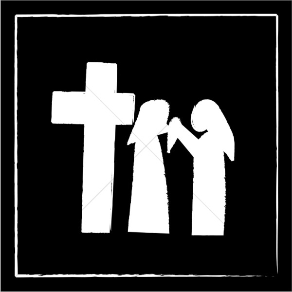 stations of the cross clipart stations of the cross silhouette free vector silhouettes the stations clipart of cross