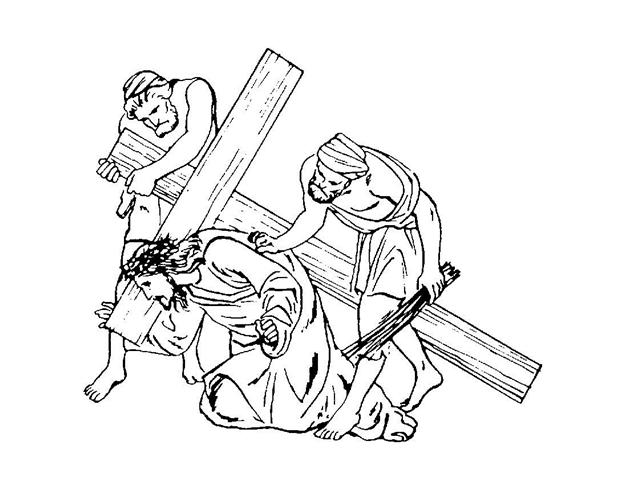 stations of the cross clipart the eleventh station jesus is nailed to the cross the stations clipart cross of