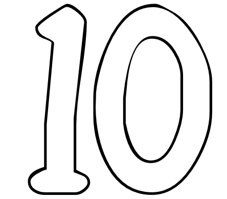 ten coloring page free coloring pages for numbers 1 10 free printable coloring page ten