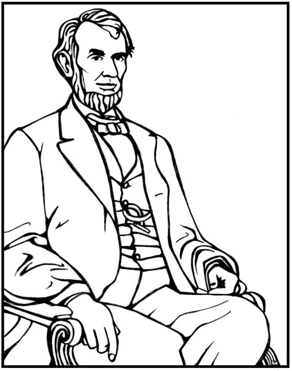 abraham lincoln coloring pages abraham lincoln coloring page pages abraham coloring lincoln