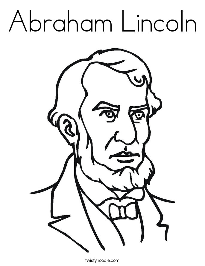abraham lincoln coloring pages abraham lincoln coloring page twisty noodle abraham lincoln pages coloring