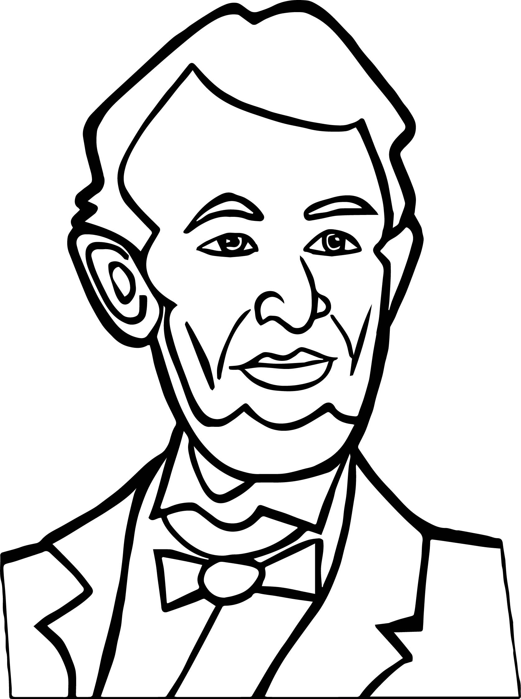 abraham lincoln coloring pages abraham lincoln with hat drawing at getdrawings free abraham lincoln coloring pages