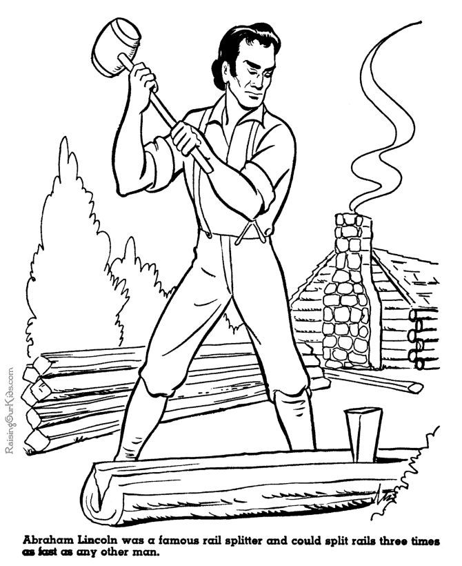 abraham lincoln coloring pages log cabin coloring pages coloring home abraham pages lincoln coloring