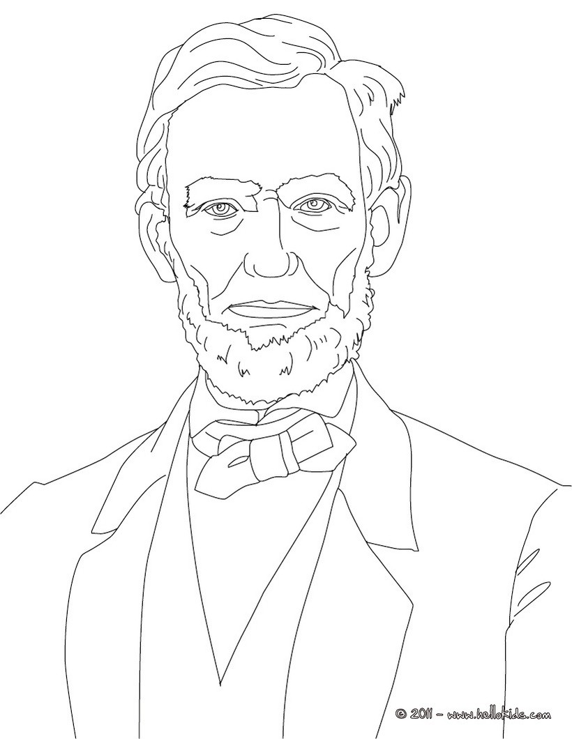 abraham lincoln coloring pages president abraham lincoln coloring pages hellokidscom coloring pages abraham lincoln