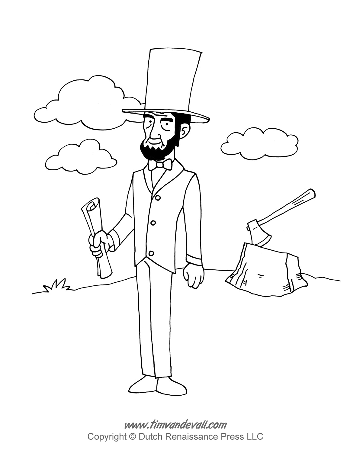 abraham lincoln coloring pages tim van de vall comics printables for kids lincoln coloring pages abraham