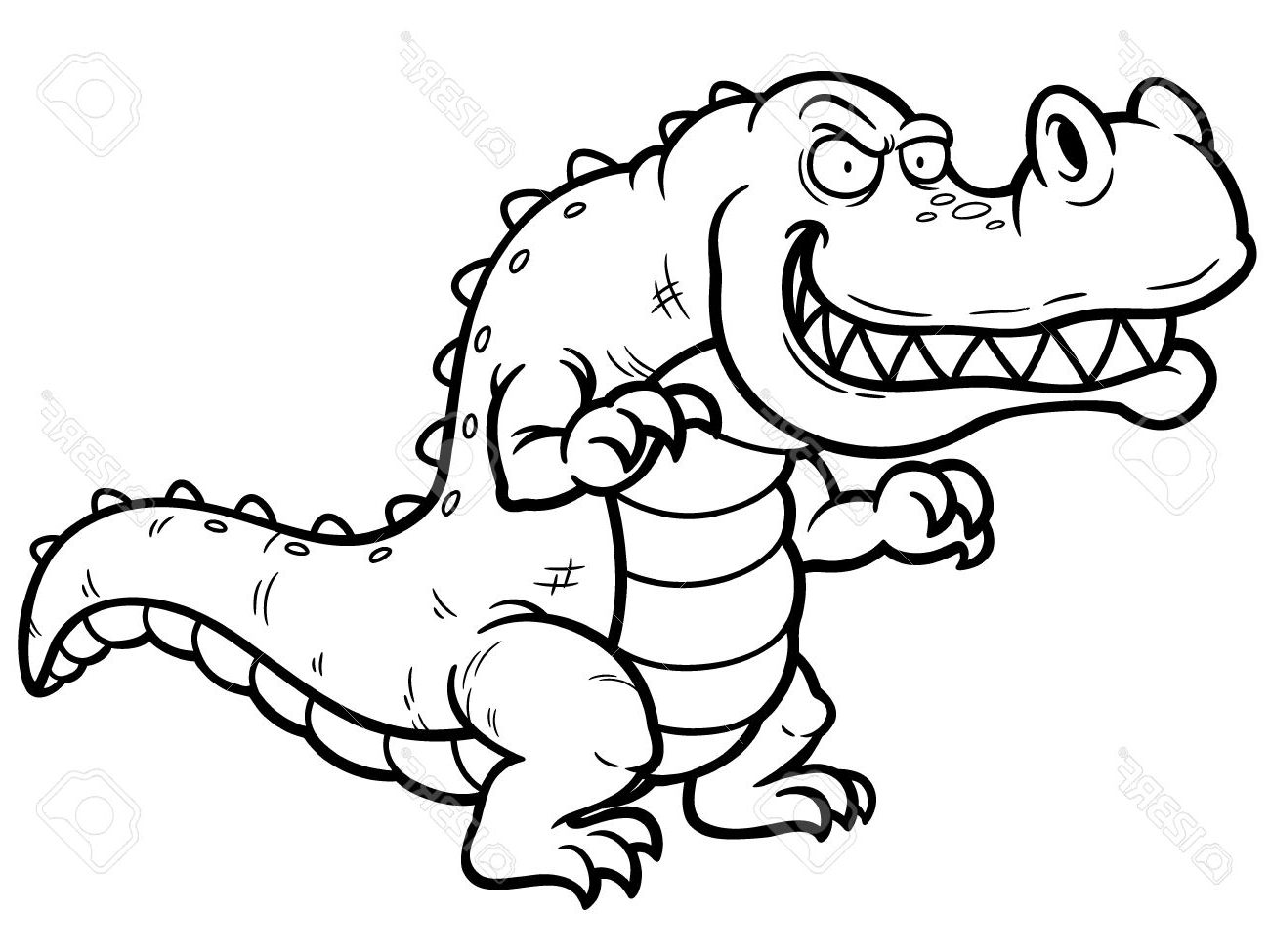 alligator drawing cartoon alligator drawing in 4 steps with photoshop drawing alligator