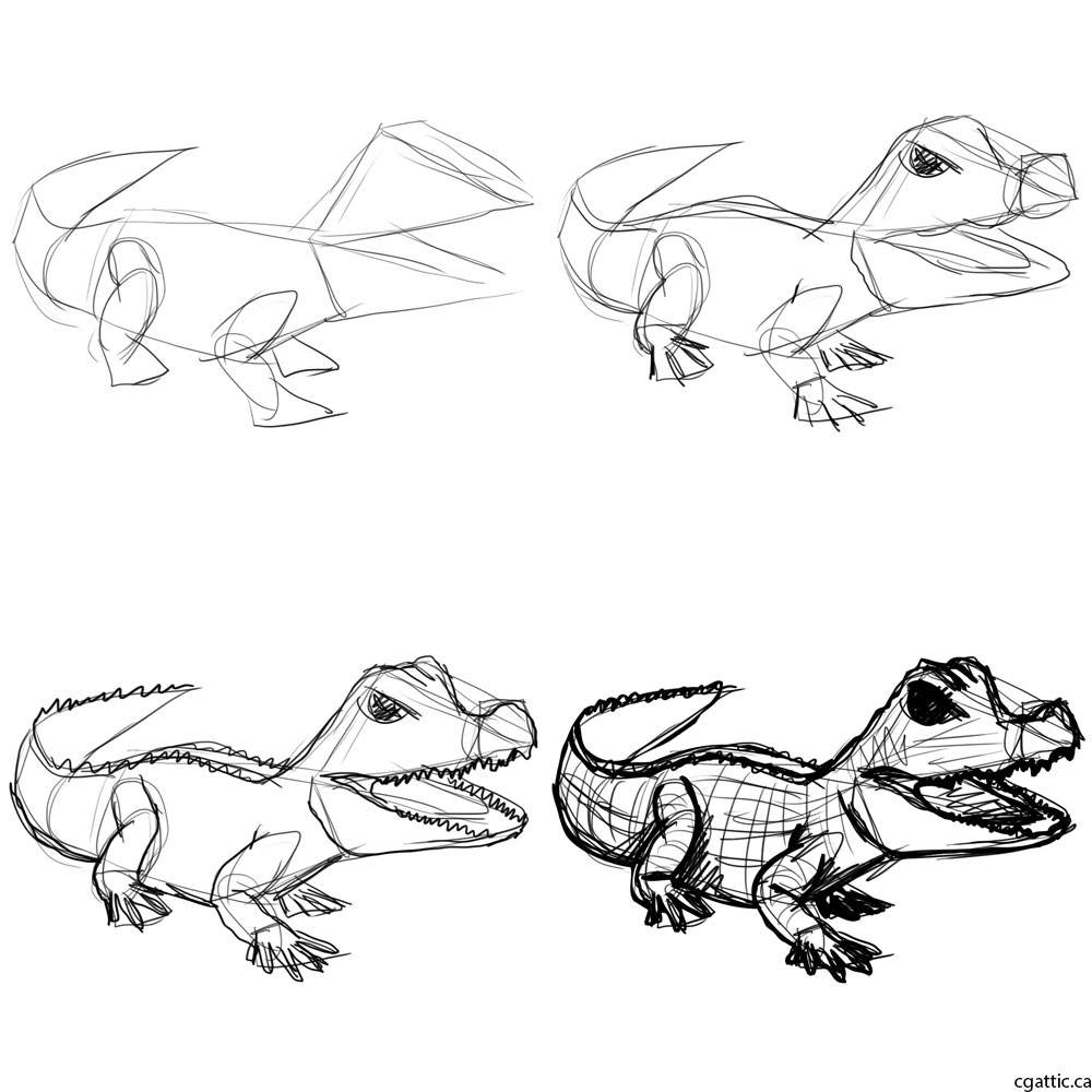 alligator drawing cute alligator drawing at getdrawings free download drawing alligator