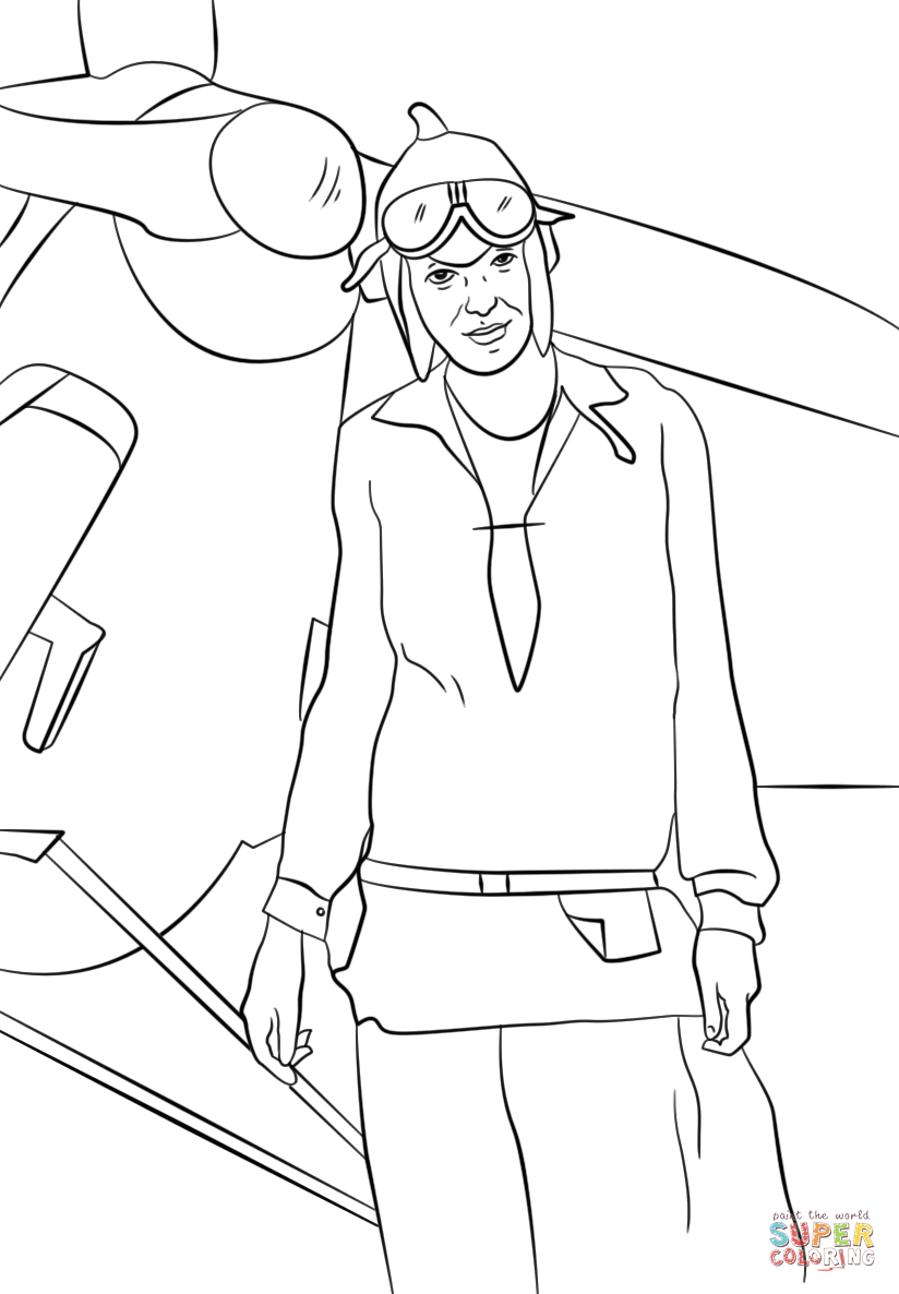 amelia earhart coloring page amelia earhart coloring page craft or poster with mini coloring earhart amelia page