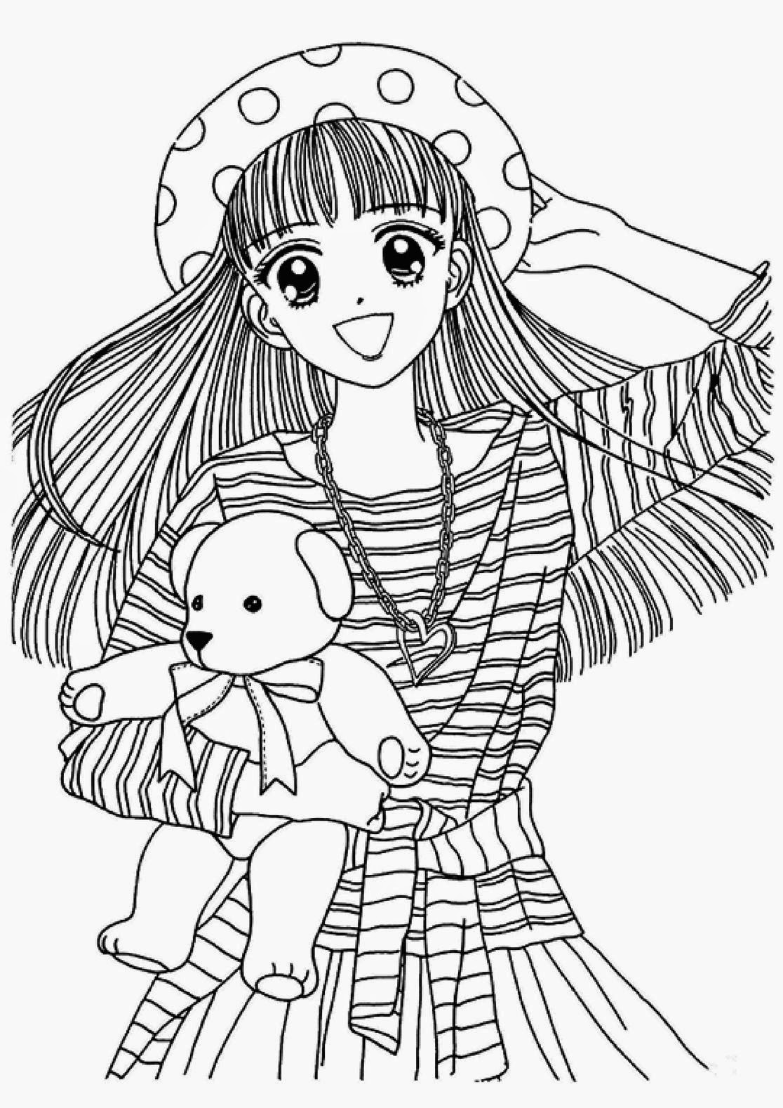 anime girl coloring pages coloring pages anime coloring pages free and printable pages girl anime coloring