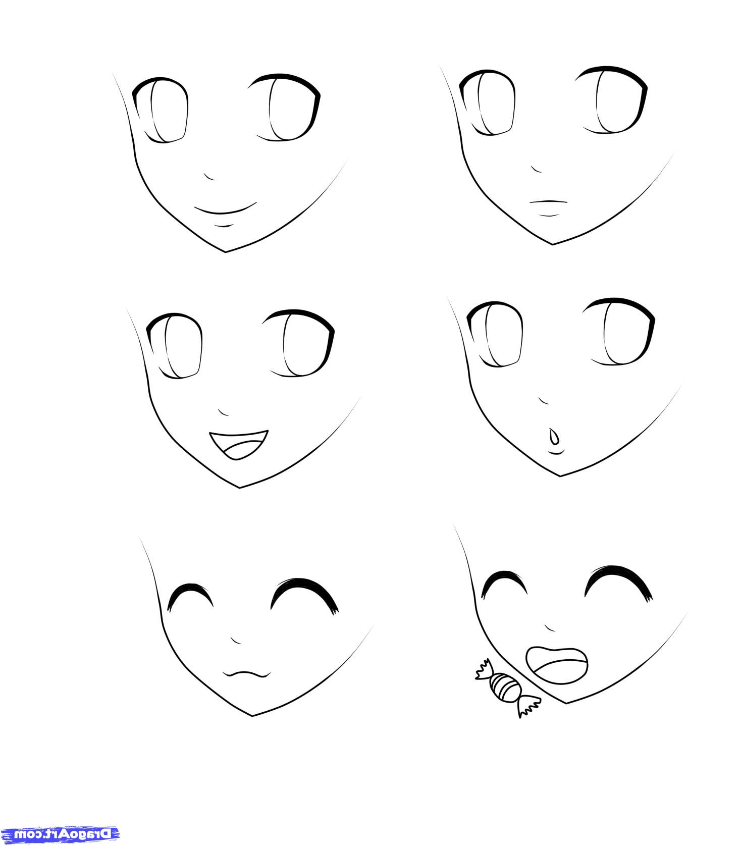 anime step by step drawings how to draw anime face skip to my lou anime by drawings step step