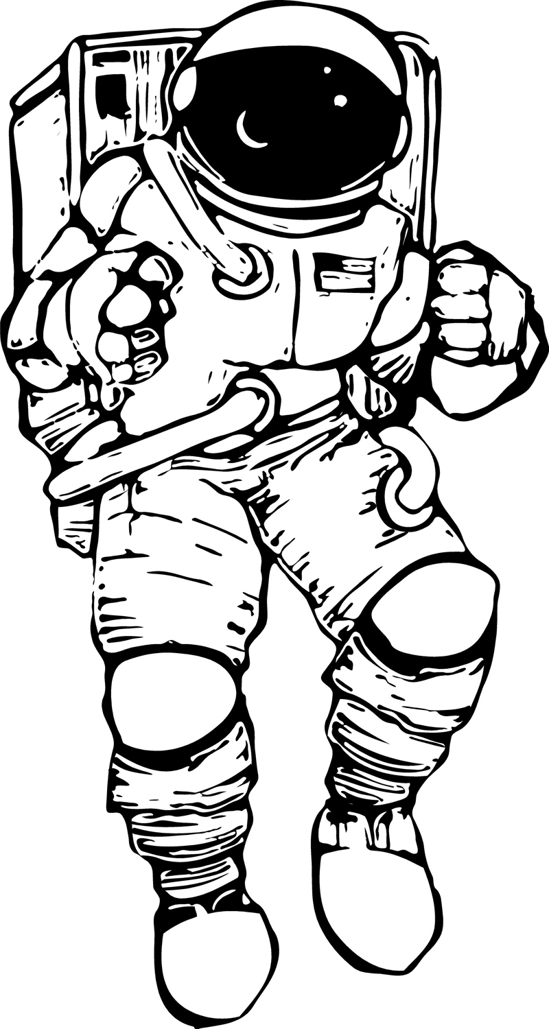 astronaut line drawing astronaut drawing at getdrawings free download drawing astronaut line