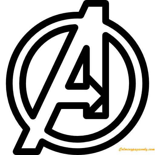 avengers symbol coloring pages avengers endgame coloring pages getcoloringpagescom pages avengers coloring symbol