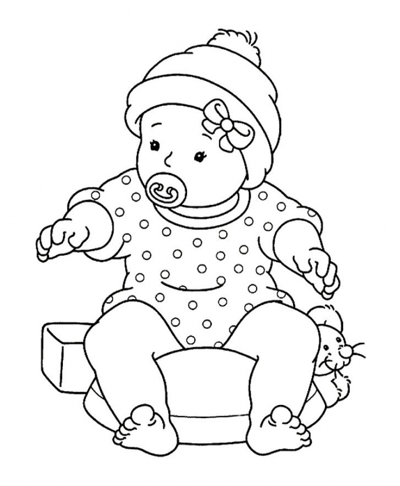 babies coloring pages free printable baby coloring pages for kids babies coloring pages