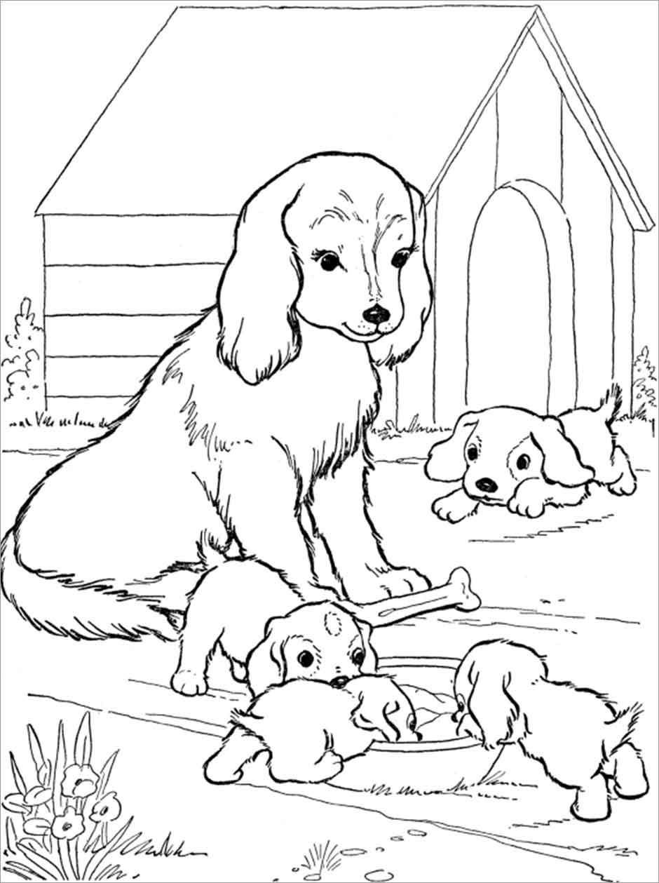 baby dog dog coloring pages employ dog coloring pages for your childrens creative time baby dog pages dog coloring
