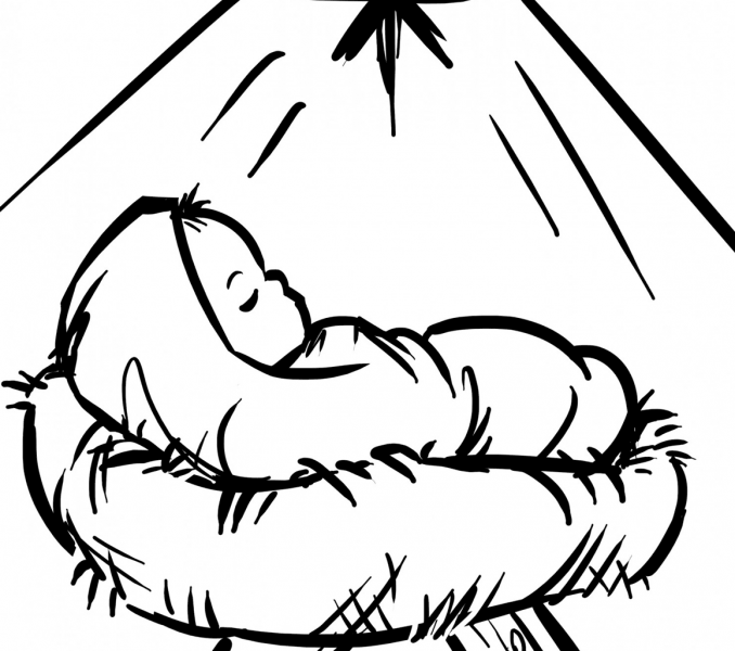 baby jesus manger coloring page baby jesus in manger coloring page get coloring pages coloring manger jesus page baby