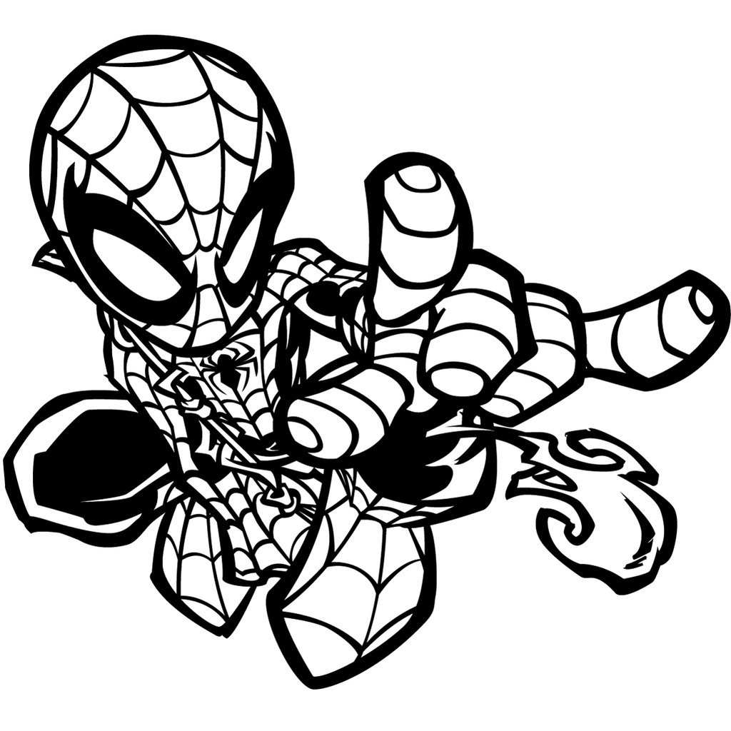 baby venom coloring pages greatlp39s chibi spider inks by sircle on deviantart venom coloring baby pages