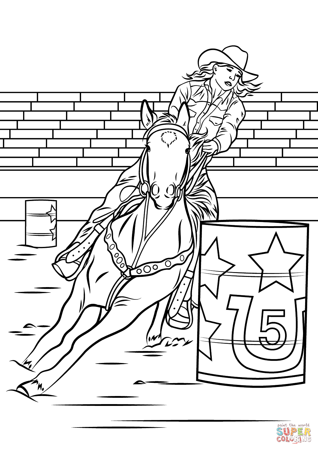 barrel racing coloring pages rodeo coloring pages pages coloring racing barrel