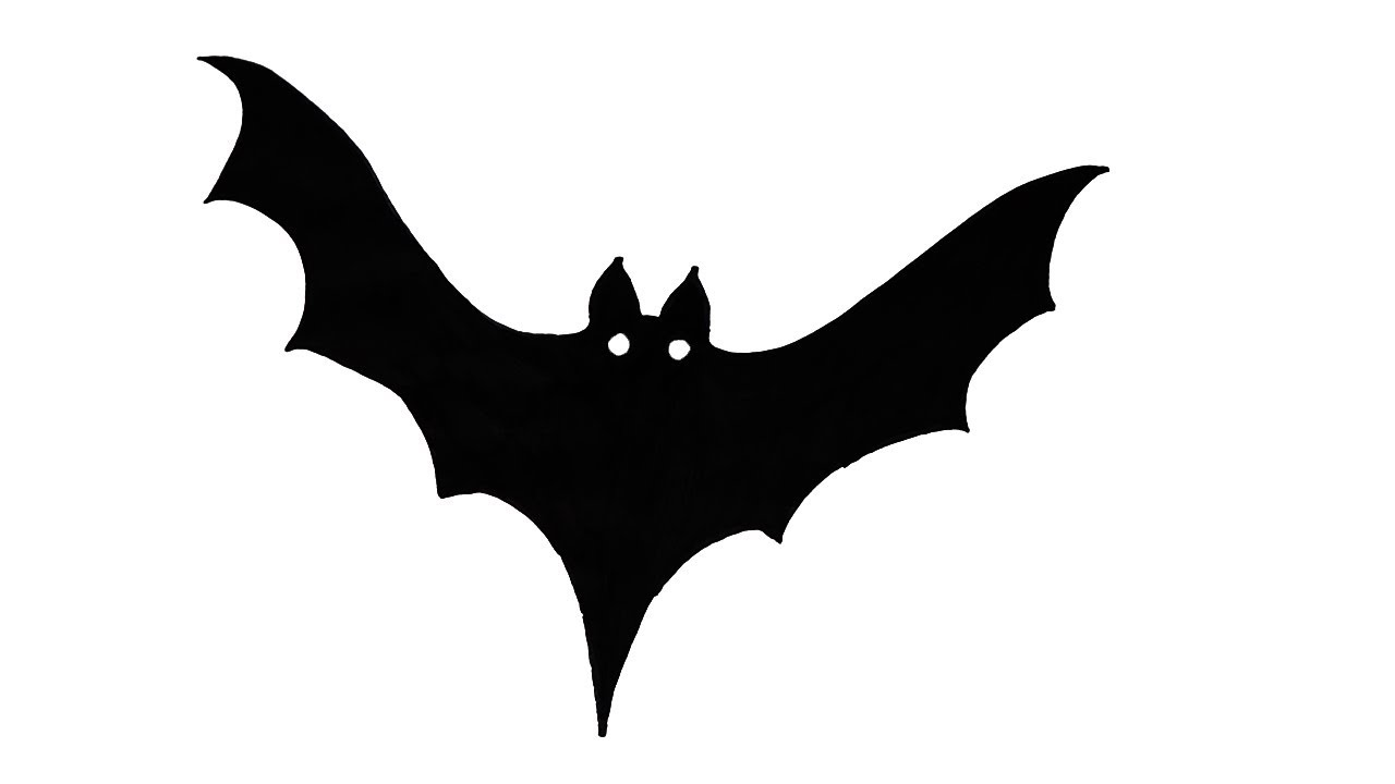 bat drawing how to draw a scary bat halloween very easy for kids drawing bat