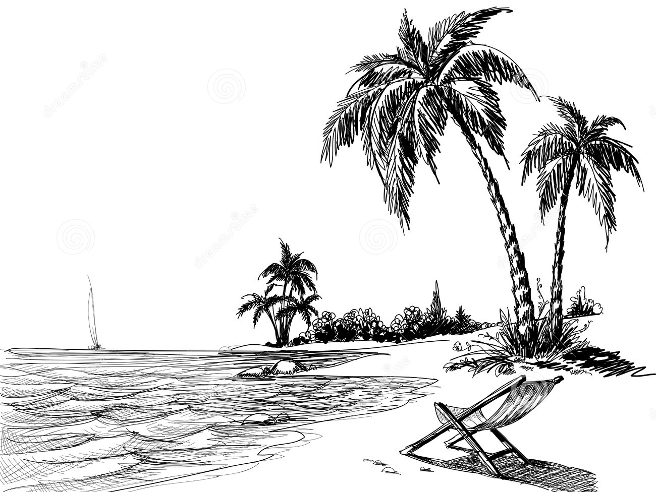 beach drawing beach line art printed photo background 7407 with beach drawing