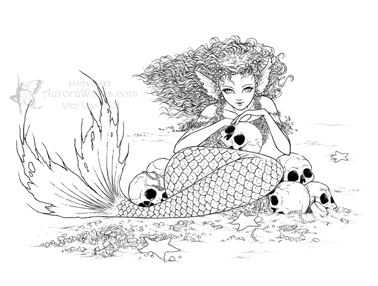 beautiful evil mermaid coloring pages quota dark undercurrentquot mermaid coloring book mermaid coloring beautiful mermaid pages evil