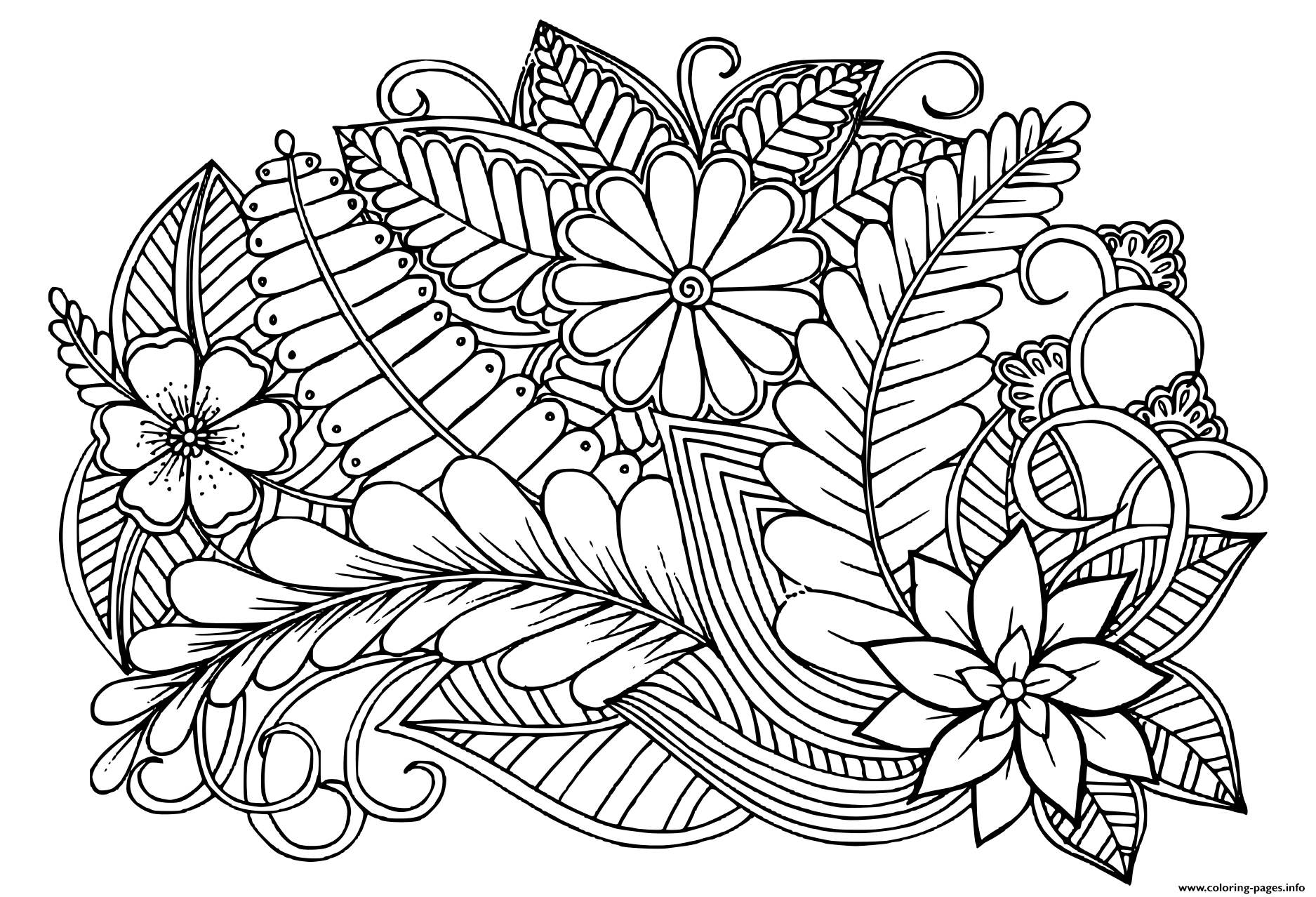 black and white color pages doodle floral pattern in black and white adult coloring white pages black and color