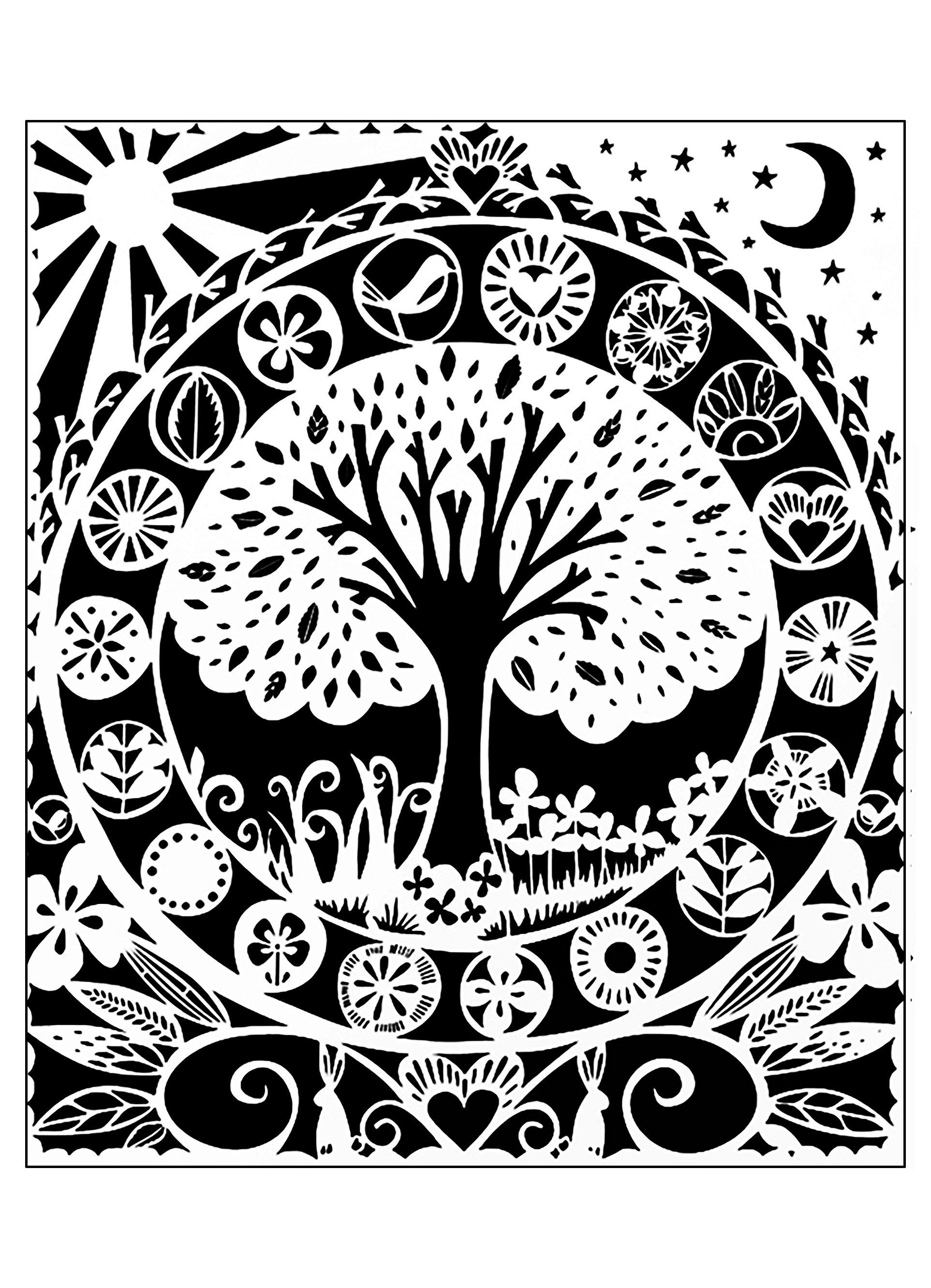 black and white color pages tree white black flowers adult coloring pages black white and color pages