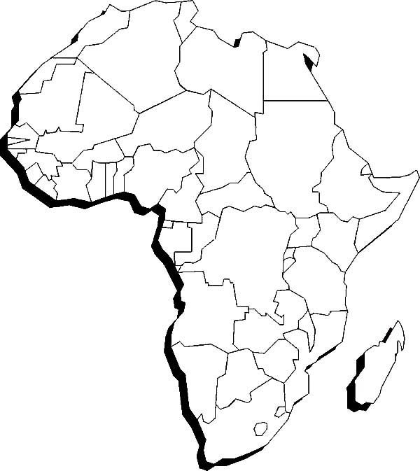 blank map of african countries africa political map without names map of africa map countries of african blank