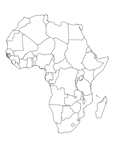 blank map of african countries african countries blank geographycontinentsafrica blank of countries map african
