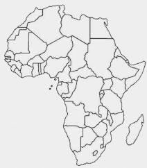blank map of african countries blank africa map with country outlines of map african blank countries