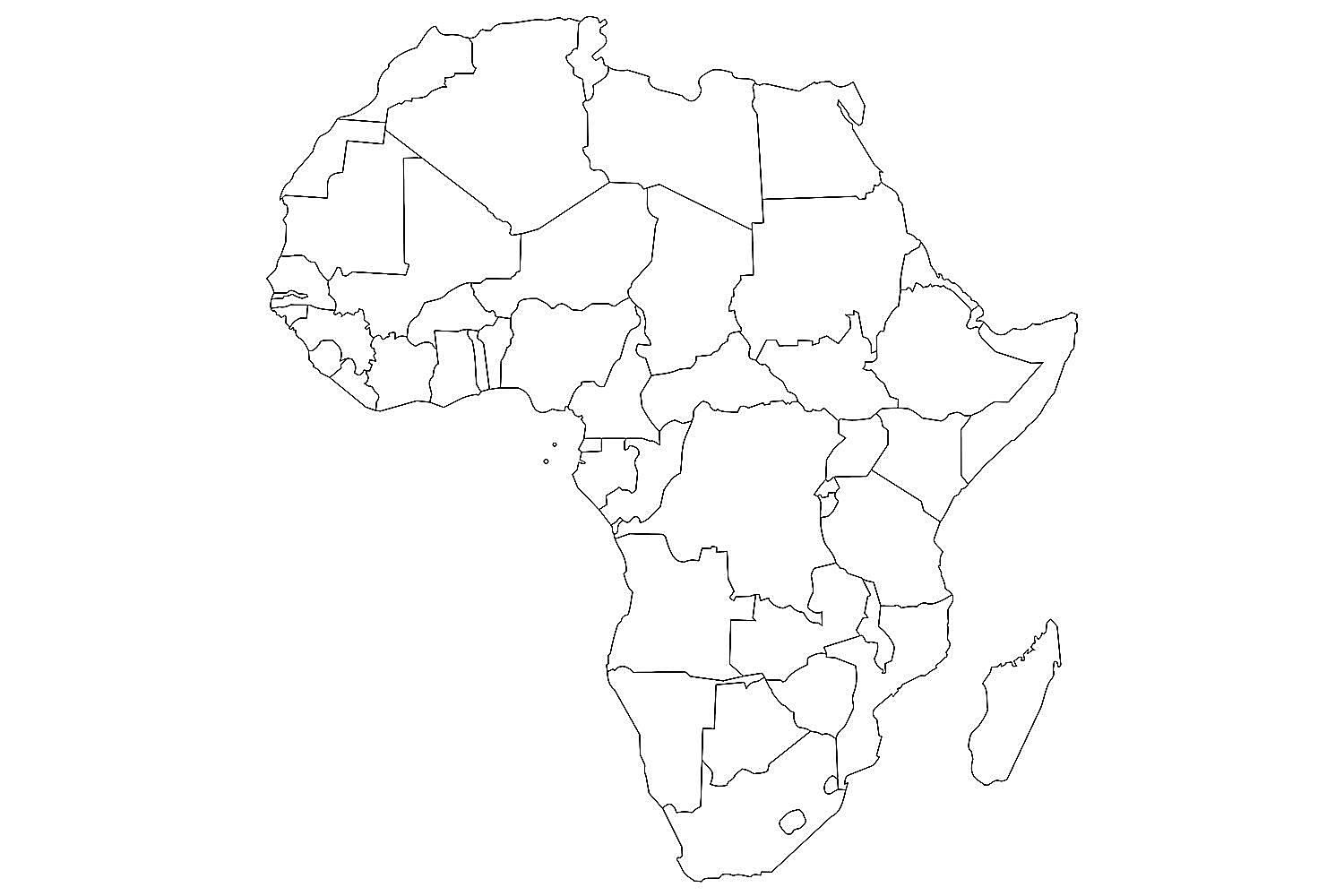 blank map of african countries geography test africa see how well you do of blank african map countries