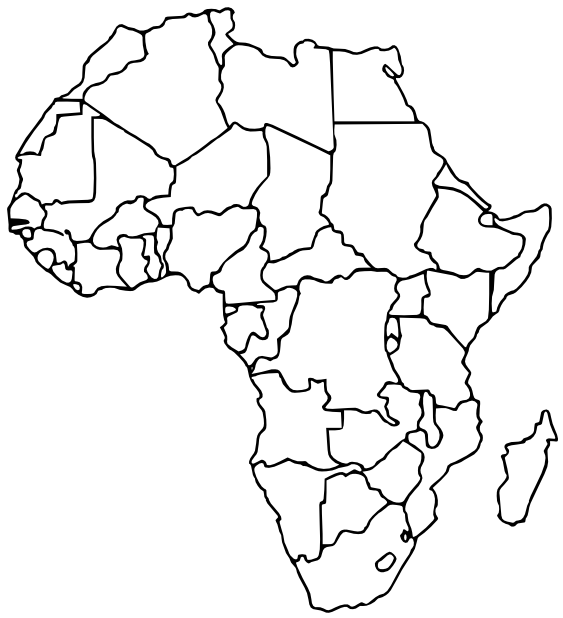 blank map of african countries online maps blank africa map of map countries african blank