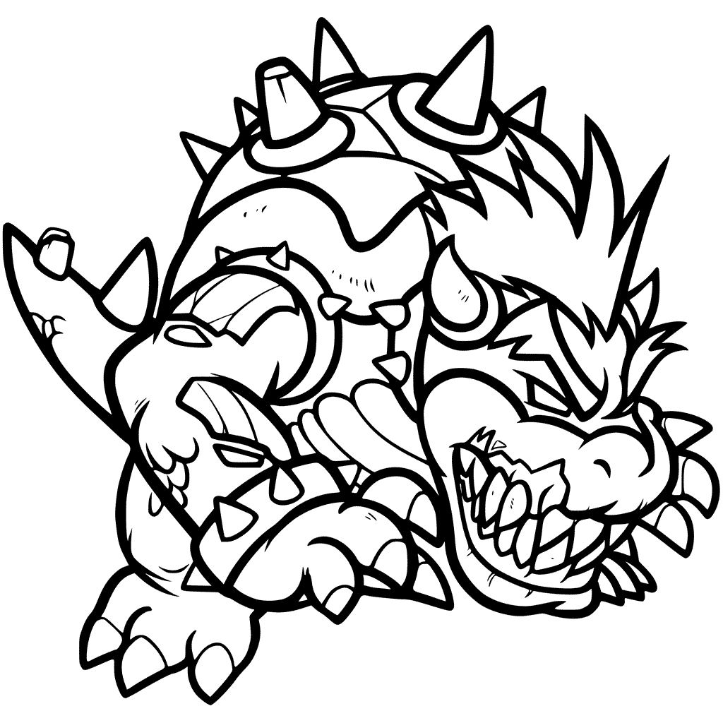 bowser coloring page bowser coloring pages best coloring pages for kids page coloring bowser