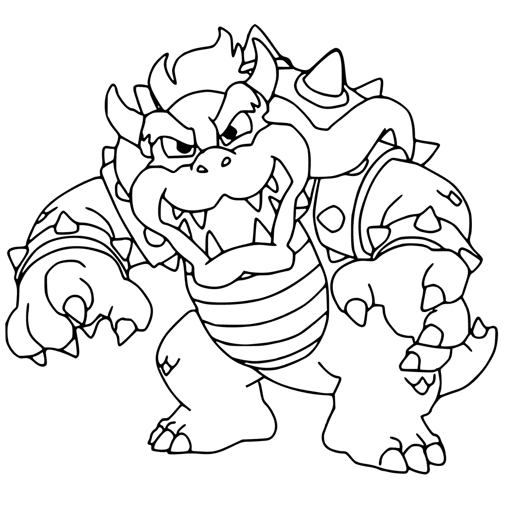 bowser picture the best free bowser coloring page images download from bowser picture