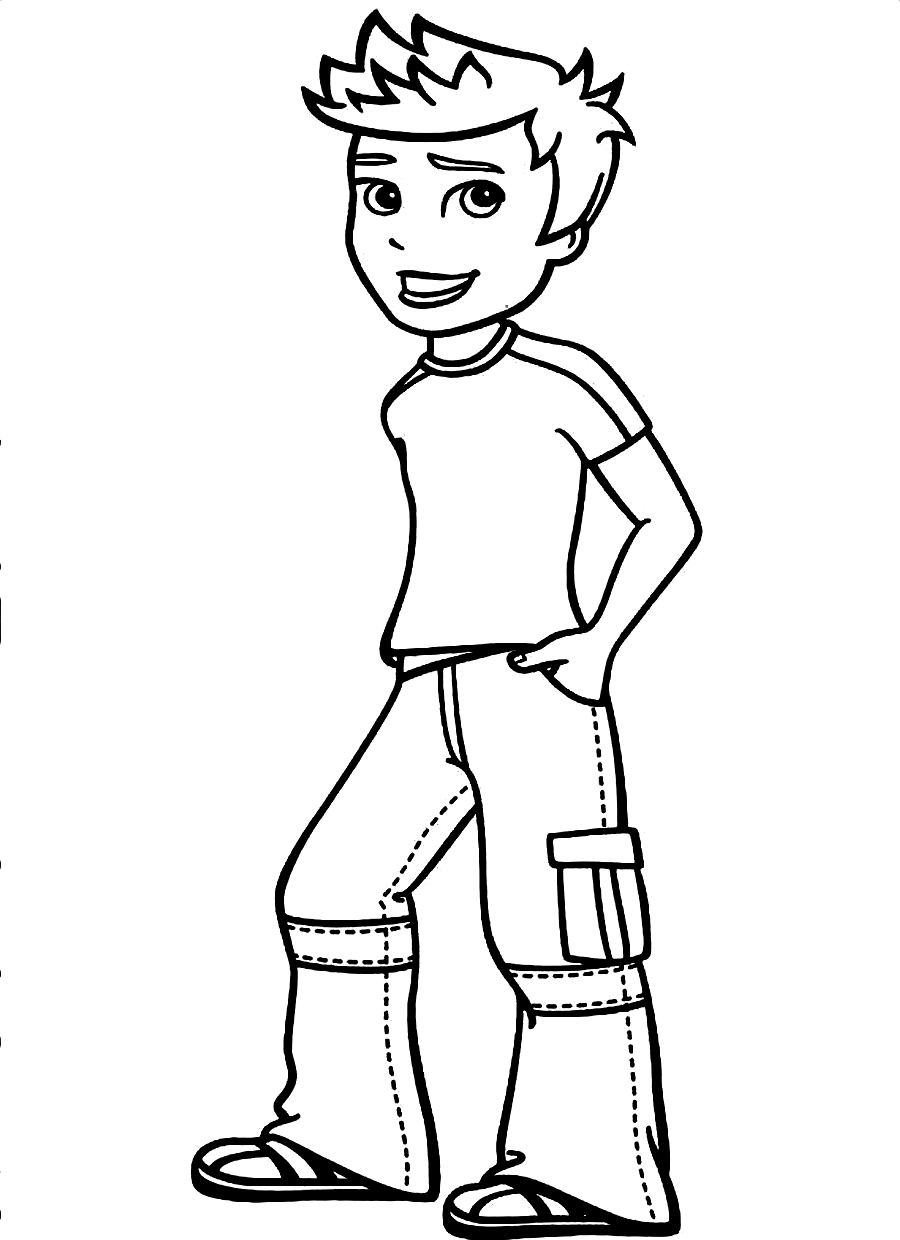 boy coloring free printable boy coloring pages for kids coloring boy