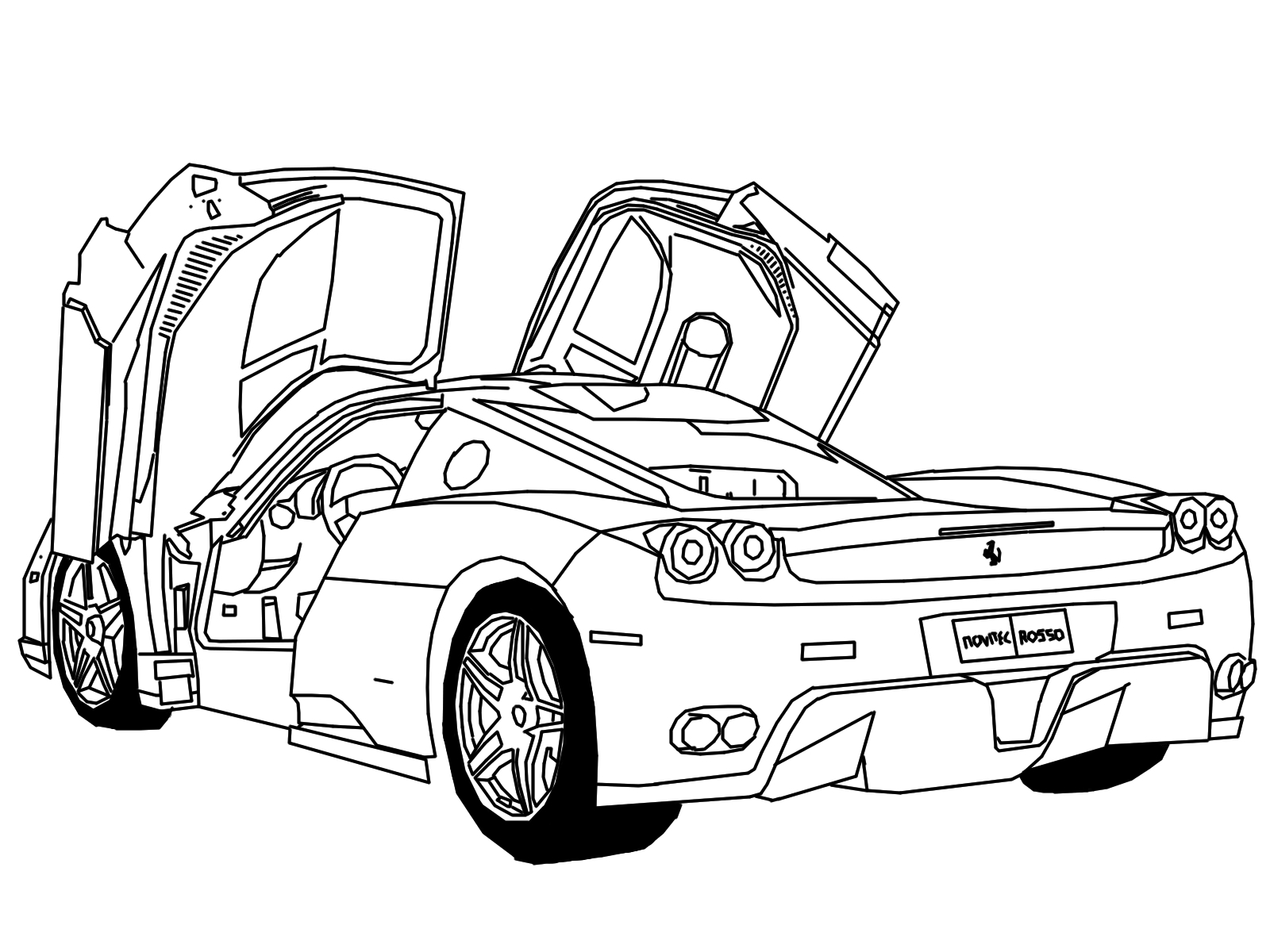 car drawing for coloring free printable car coloring pages for kids  art hearty drawing coloring for car