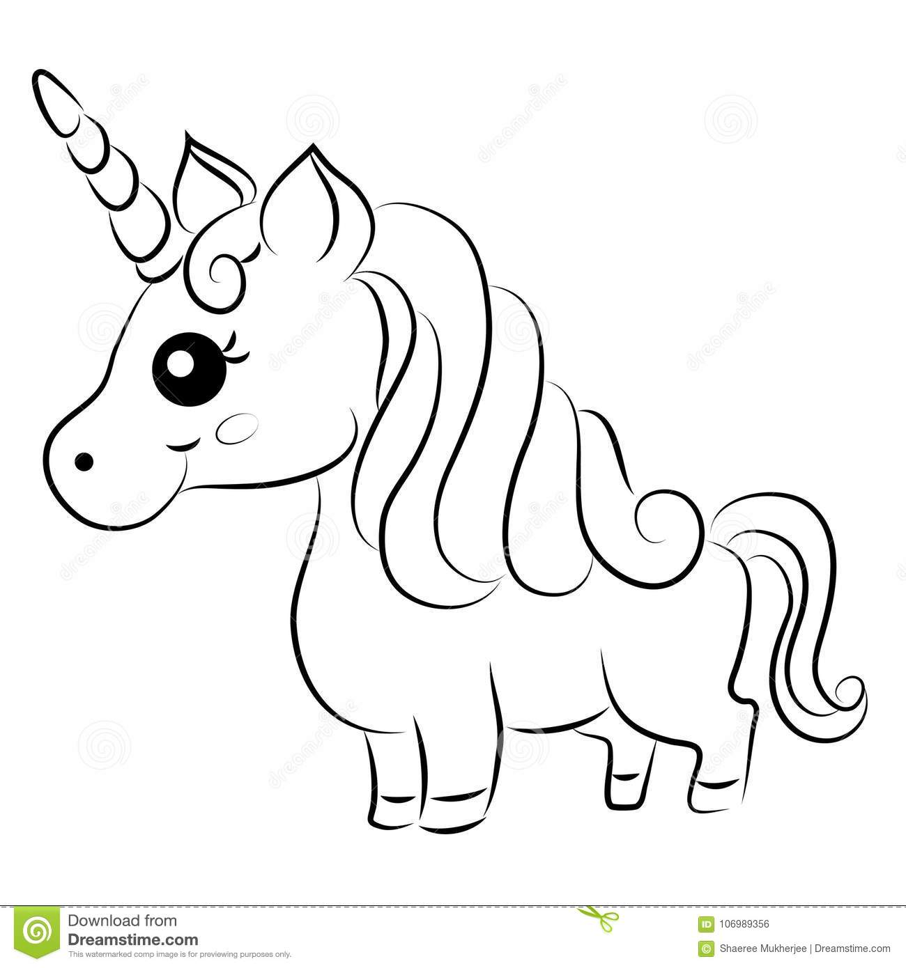 cartoon unicorn coloring pages cute cartoon vector unicorn coloring page stock vector coloring unicorn cartoon pages