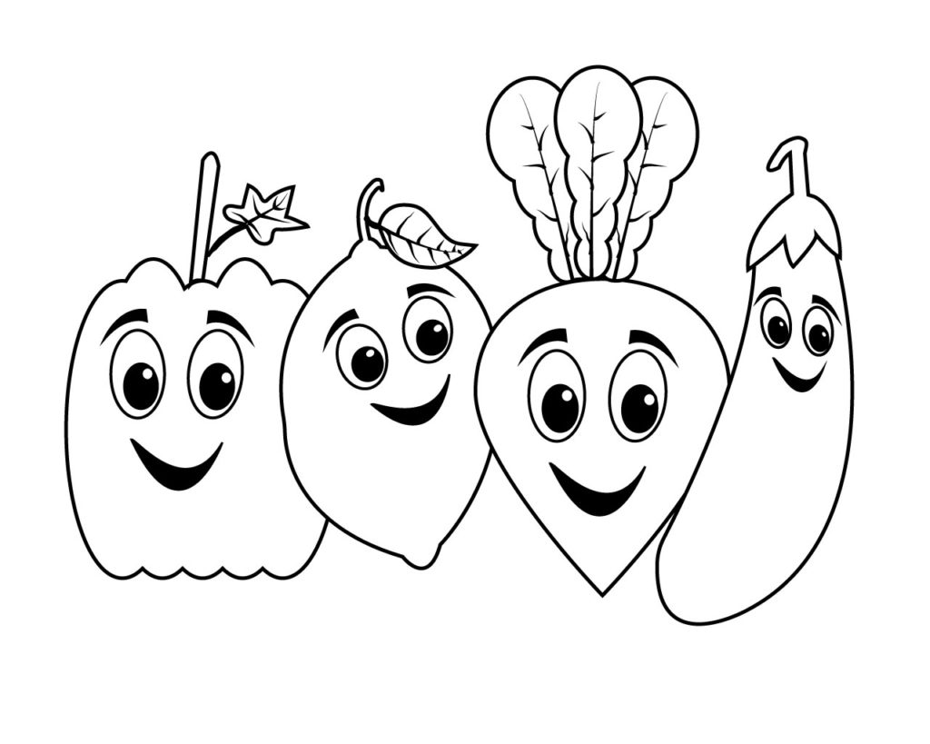 cartoon vegetable coloring pages cute vegetable coloring page wecoloringpagecom pages vegetable cartoon coloring