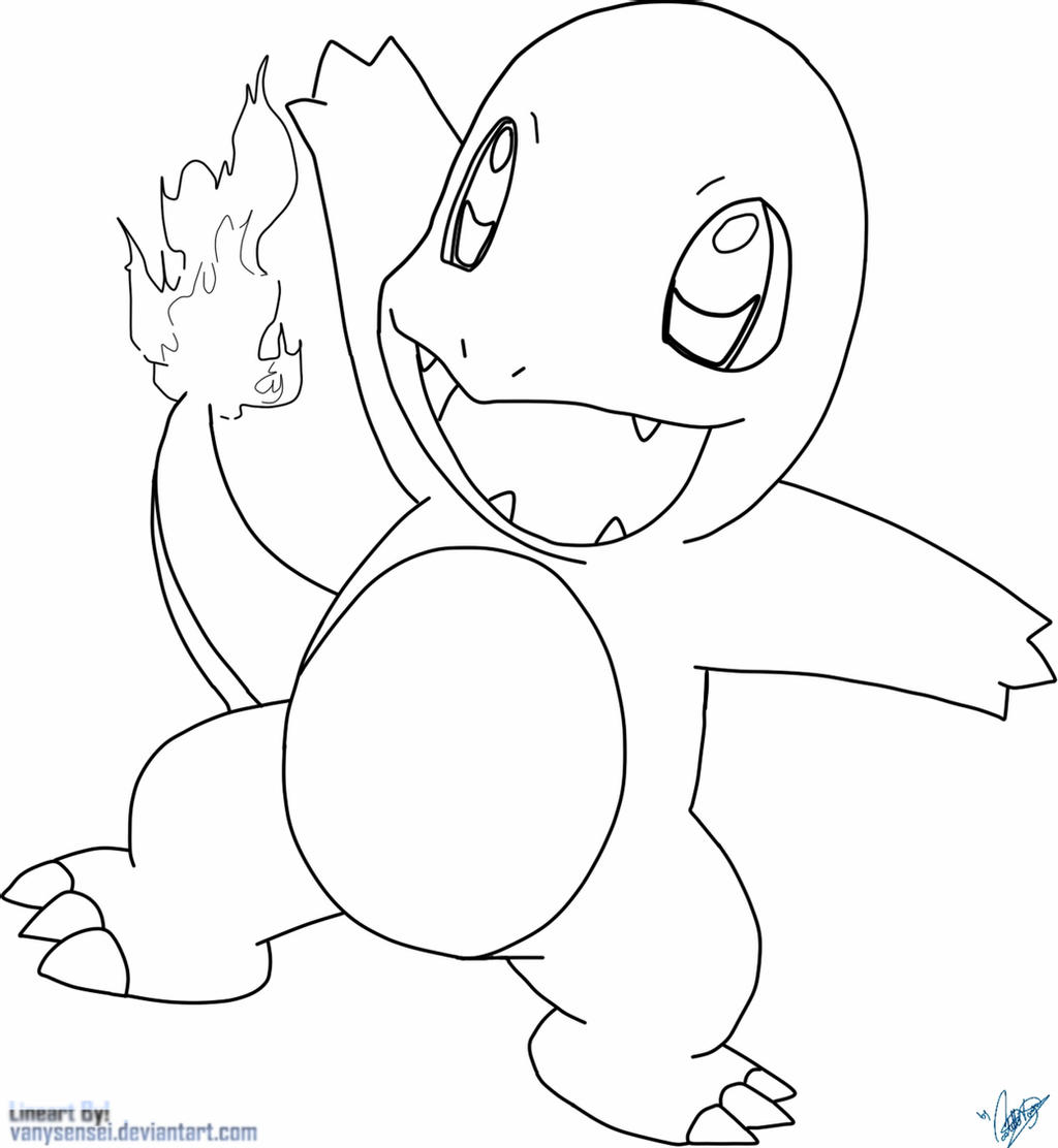 charmander colouring pages charmander by vanysensei lineart by vanysensei on deviantart colouring charmander pages