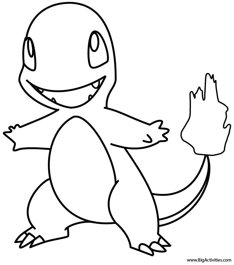 charmander colouring pages coloring pages pokemon charmander at getdrawings free colouring pages charmander