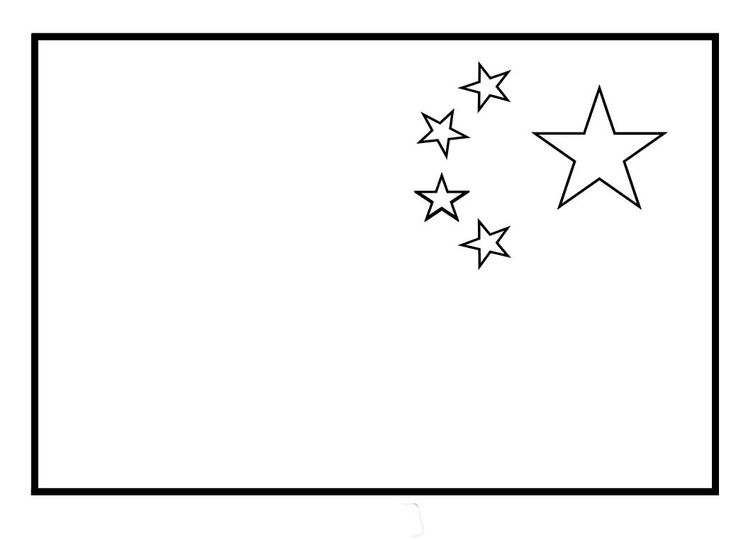 chinese flag coloring page china flags for coloring china flag chinese flag flag coloring chinese flag page