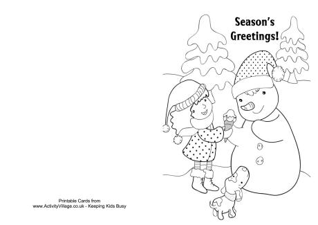 christmas card coloring santa claus is going down through a chimney christmas card coloring card christmas