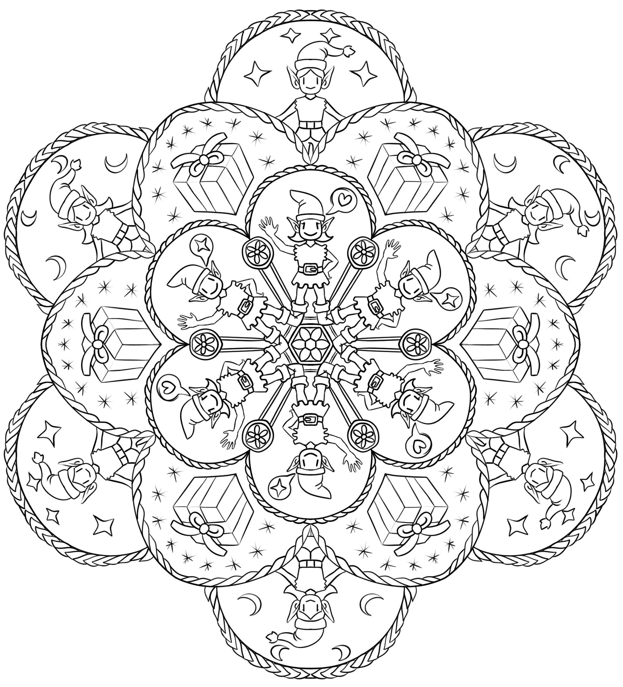 christmas mandala coloring pages christmas mandalas coloring 18 funnycrafts christmas coloring mandala pages