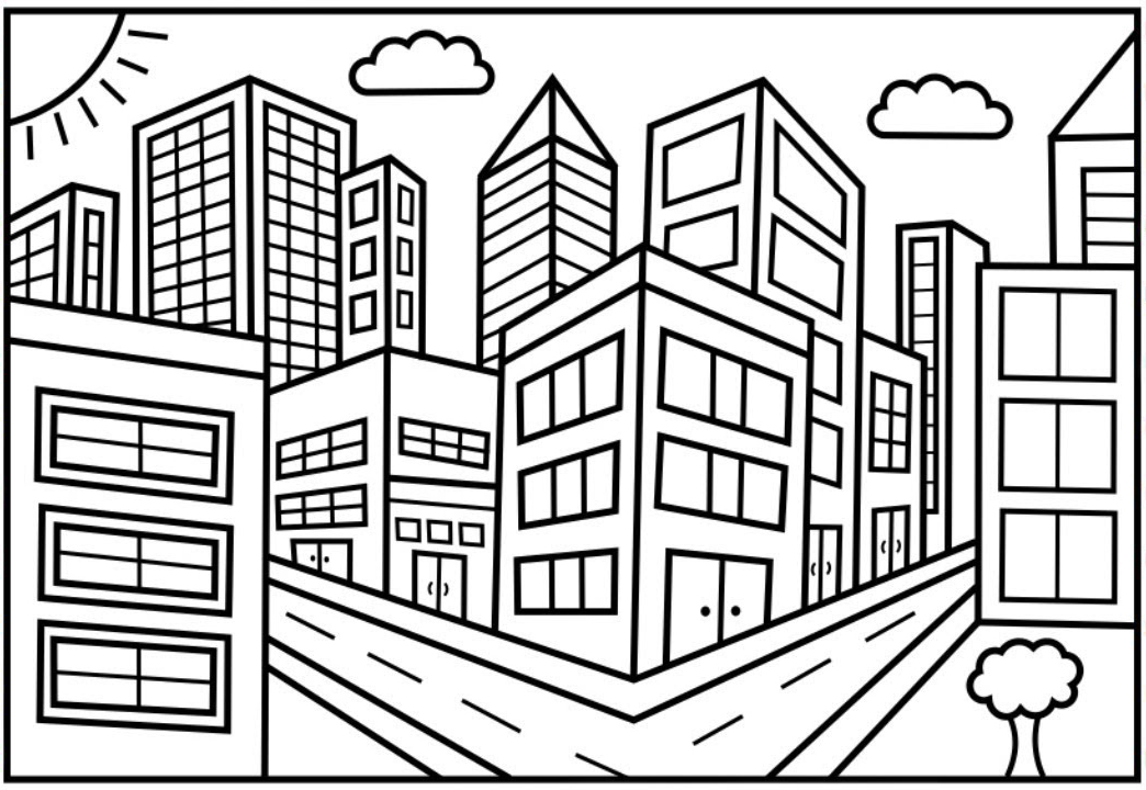 city coloring page city coloring pages best coloring pages for kids coloring city page
